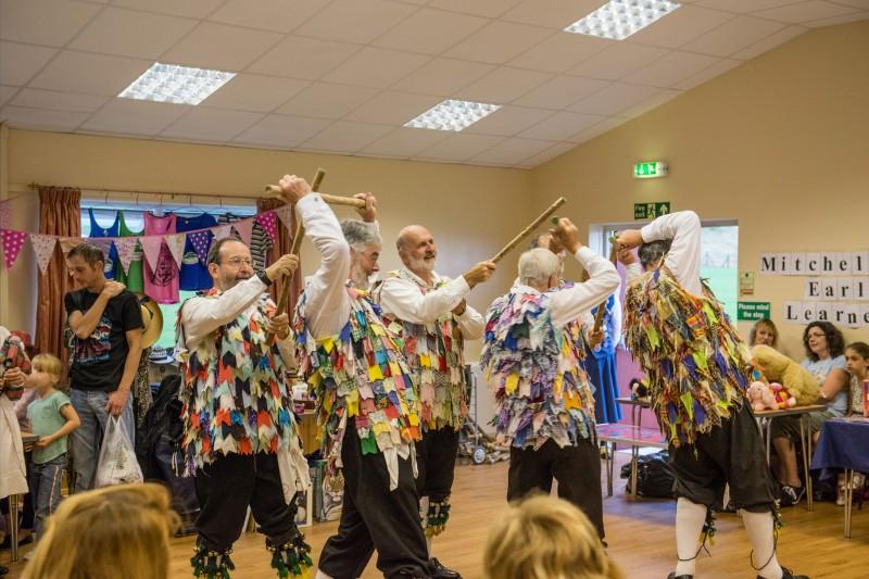 Morris dancers in the Community Centre