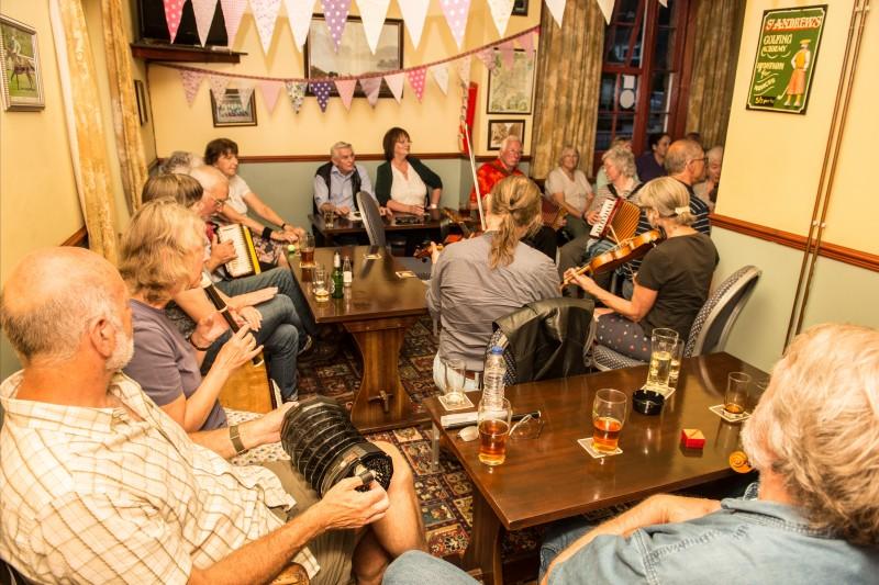 Folk session in the pub