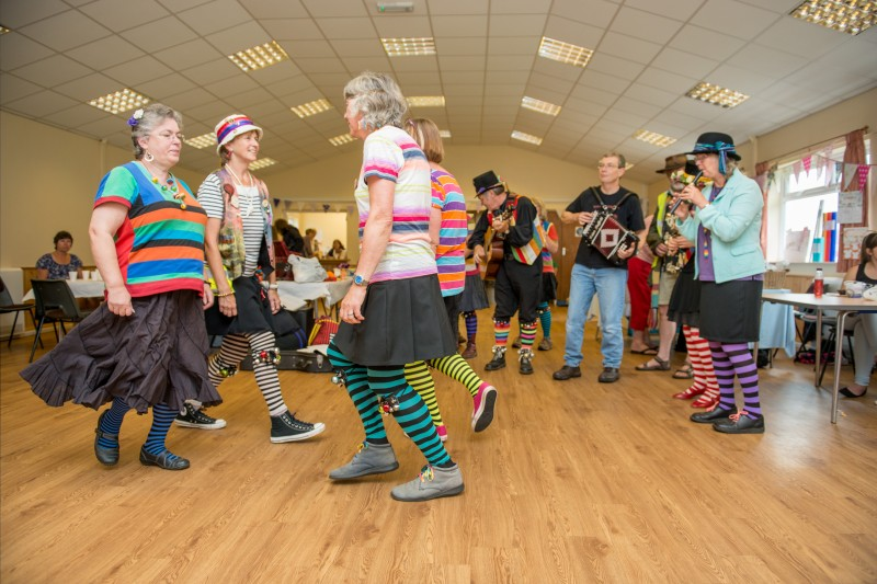 Morris dancing at the Community Centre