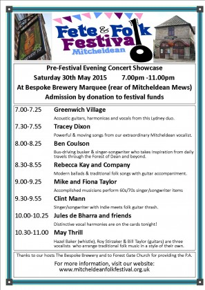 Mitcheldean Fete Concert 2015 30 May V6
