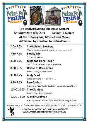 Mitcheldean Fete Concert 2016 28 May V4