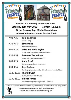 Mitcheldean Fete & Folk Festival Concert Saturday 28th May 2016
