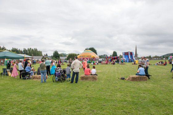Overview of the Fete on the playing field