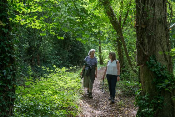 Folk Walkers Anne & Wendy in the Forest