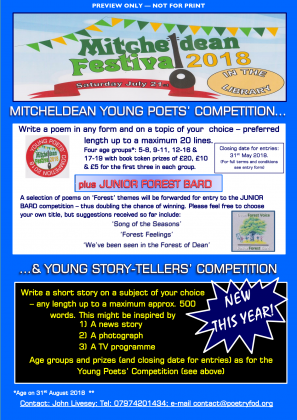 Poetry Competition Entry Form